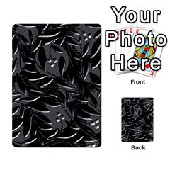Black Floral Design Multi Purpose Cards (rectangle)  by Valentinaart