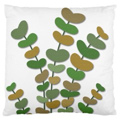 Green Decorative Plant Large Flano Cushion Case (two Sides) by Valentinaart