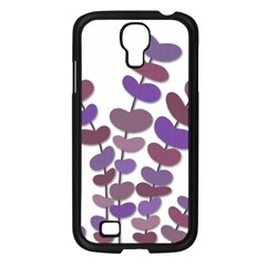 Purple Decorative Plant Samsung Galaxy S4 I9500/ I9505 Case (black) by Valentinaart