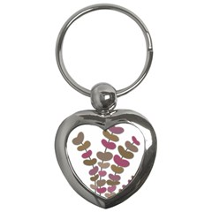 Magenta Decorative Plant Key Chains (heart)  by Valentinaart