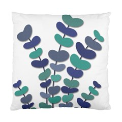 Blue Decorative Plant Standard Cushion Case (two Sides) by Valentinaart