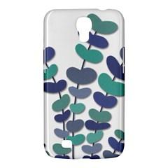 Blue Decorative Plant Samsung Galaxy Mega 6 3  I9200 Hardshell Case by Valentinaart