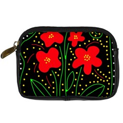 Red Flowers Digital Camera Cases by Valentinaart