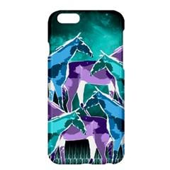 Horses Under A Galaxy Apple Iphone 6 Plus/6s Plus Hardshell Case by DanaeStudio
