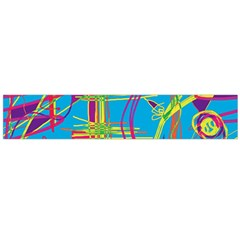 Colorful Abstract Pattern Flano Scarf (large) by Valentinaart