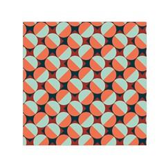 Modernist Geometric Tiles Small Satin Scarf (square) by DanaeStudio