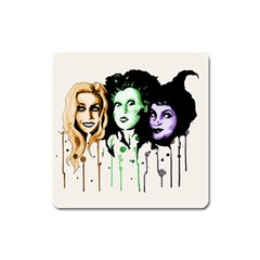 The Sanderson Sisters  Square Magnet by lvbart