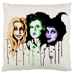 The Sanderson Sisters  Large Flano Cushion Case (one Side) by lvbart