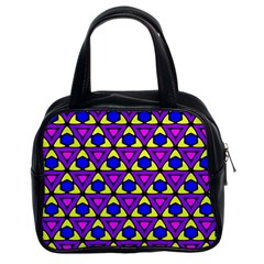Triangles And Honeycombs Pattern                                                                                                   Classic Handbag (two Sides) by LalyLauraFLM