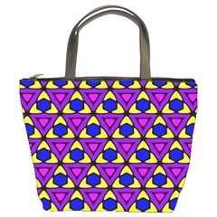 Triangles And Honeycombs Pattern                                                                                                   bucket Bag by LalyLauraFLM