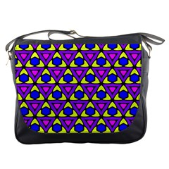 Triangles And Honeycombs Pattern                                                                                                   			messenger Bag by LalyLauraFLM
