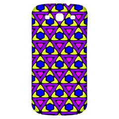 Triangles And Honeycombs Pattern                                                                                                  samsung Galaxy S3 S Iii Classic Hardshell Back Case by LalyLauraFLM