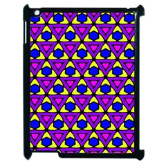 Triangles And Honeycombs Pattern                                                                                                  			apple Ipad 2 Case (black) by LalyLauraFLM