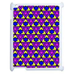 Triangles And Honeycombs Pattern                                                                                                  apple Ipad 2 Case (white) by LalyLauraFLM