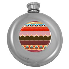 Waves And Other Shapes                                                                                                    hip Flask (5 Oz) by LalyLauraFLM