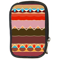 Waves And Other Shapes                                                                                                    compact Camera Leather Case by LalyLauraFLM