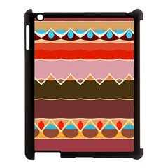 Waves And Other Shapes                                                                                                   apple Ipad 3/4 Case (black) by LalyLauraFLM