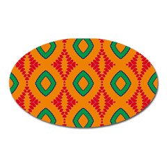 Rhombus And Other Shapes Pattern                                                                                                     			magnet (oval) by LalyLauraFLM