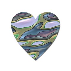 3d Shapes                                                                                                      magnet (heart) by LalyLauraFLM