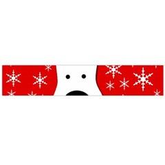 Christmas reindeer - red Flano Scarf (Large) by Valentinaart