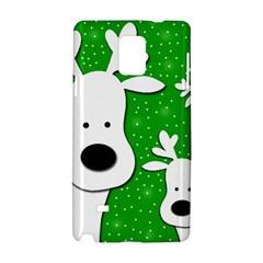 Christmas reindeer - green 2 Samsung Galaxy Note 4 Hardshell Case by Valentinaart