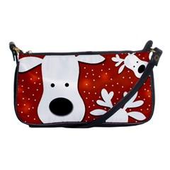 Christmas Reindeer   Red 2 Shoulder Clutch Bags by Valentinaart