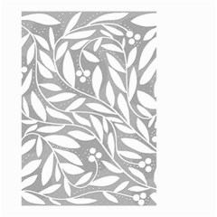 Gray And White Floral Pattern Small Garden Flag (two Sides) by Valentinaart
