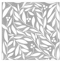 Gray And White Floral Pattern Large Satin Scarf (square) by Valentinaart