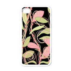Pink And Ocher Ivy Apple Iphone 4 Case (white) by Valentinaart