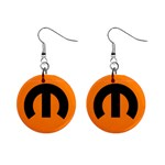 mopar earring 2 - 1  Button Earrings