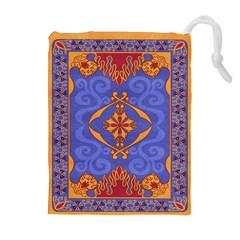 Magic Carpet Drawstring Pouch (xl) by Ellador