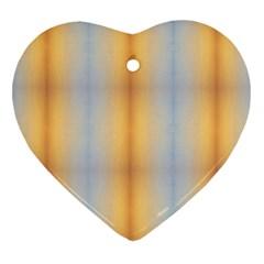 Blue Yellow Summer Pattern Heart Ornament (2 Sides) by Costasonlineshop