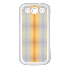 Blue Yellow Summer Pattern Samsung Galaxy S3 Back Case (white) by Costasonlineshop