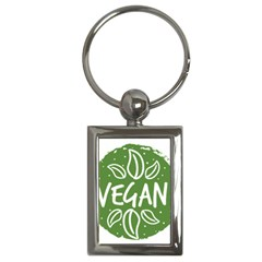 Vegan Label3 Scuro Key Chains (rectangle)  by CitronellaDesign