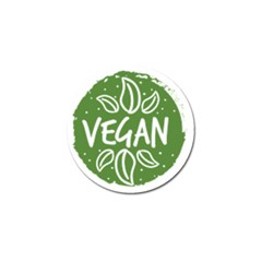 Vegan Label3 Scuro Golf Ball Marker by CitronellaDesign