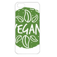 Vegan Label3 Scuro Apple Iphone 5 Seamless Case (white) by CitronellaDesign