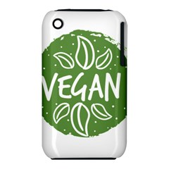 Vegan Label3 Scuro Apple Iphone 3g/3gs Hardshell Case (pc+silicone) by CitronellaDesign