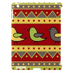 Brown Bird Pattern Apple Ipad 3/4 Hardshell Case (compatible With Smart Cover) by Valentinaart