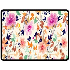 Vector Floral Art Fleece Blanket (Large)  by Zeze