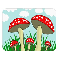 Mushrooms  Double Sided Flano Blanket (Large)  by Valentinaart