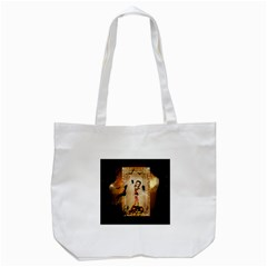 Halloween, Cute Girl With Pumpkin And Spiders Tote Bag (white) by FantasyWorld7