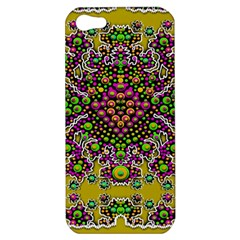 Fantasy Flower Peacock With Some Soul In Popart Apple Iphone 5 Hardshell Case by pepitasart