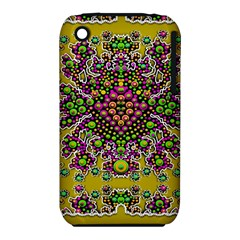 Fantasy Flower Peacock With Some Soul In Popart Apple Iphone 3g/3gs Hardshell Case (pc+silicone) by pepitasart