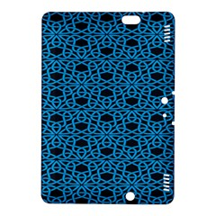 Triangle Knot Blue And Black Fabric Kindle Fire HDX 8.9  Hardshell Case by Zeze
