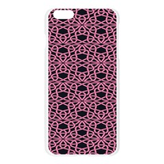 Triangle Knot Pink And Black Fabric Apple Seamless iPhone 6 Plus/6S Plus Case (Transparent) by Zeze