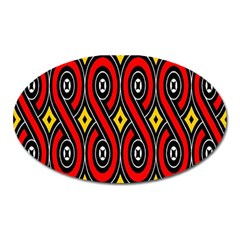 Toraja Traditional Art Pattern Oval Magnet by Zeze