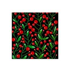 Red Christmas Berries Satin Bandana Scarf by Valentinaart