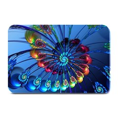 Top Peacock Feathers Plate Mats by Zeze