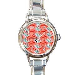 Element Of The Flower Of Life   Pattern Round Italian Charm Watch by Contest2489503