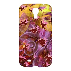 Falling Autumn Leaves Samsung Galaxy S4 I9500/i9505 Hardshell Case by Contest2489503